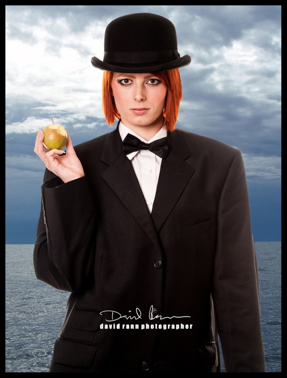 My homage to Magritte featuring Emile Walt. Copyright David Rann 2012