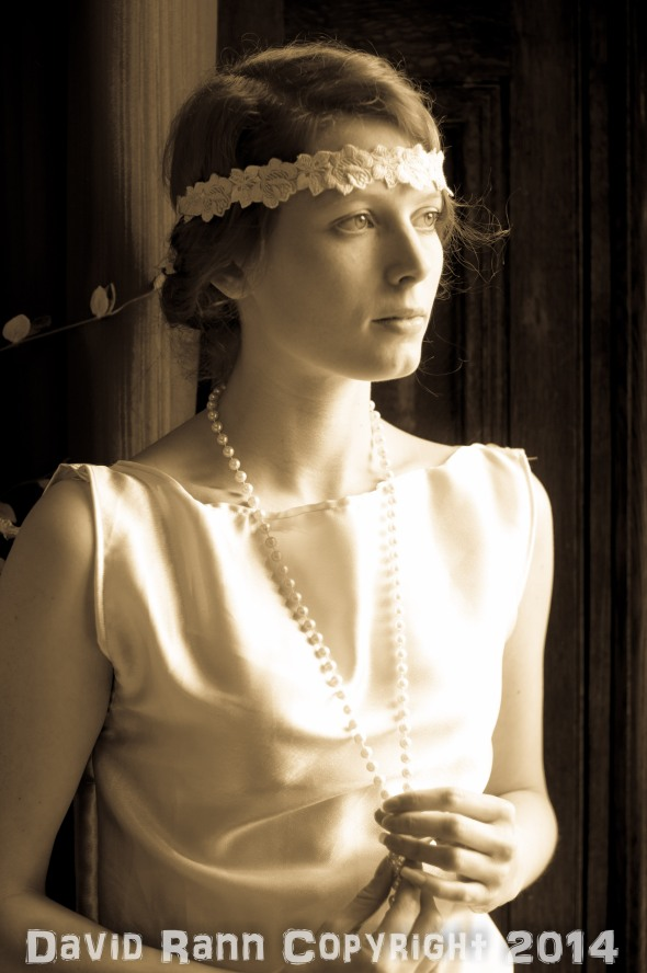 "Emilie Walt (in a rare sepia shot!) at the Fotofilia ""Downton"" shoot."