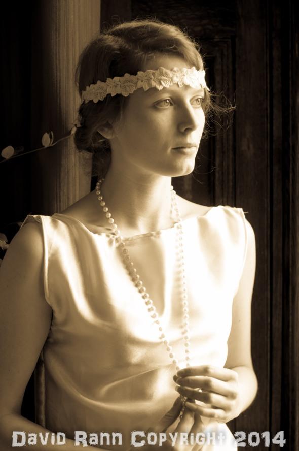 "Emilie Walt (in a rare sepia shot!) at the Fotofilia ""Downton"" shoot."