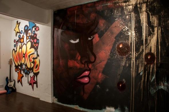 The graffiti walls